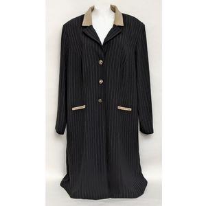 Perceptions Vintage Women's Striped Long Jacket